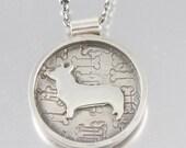 I Love My Corgi Sterling Necklace