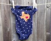 Texas- Dallas (Or custom city) Love Baby Baby BOY Appliqué Body Suit