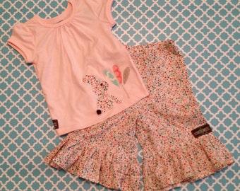 Baby Girl Toddler Ruffle Pants and Shirt 12-18m Set