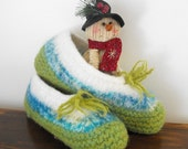 Wool Felted Slippers for Women