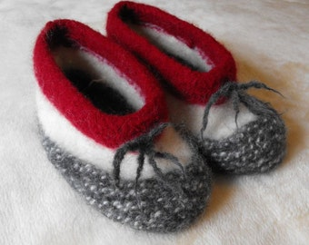 Slippers Knitting Pattern for Womens Wool Felted Slippers