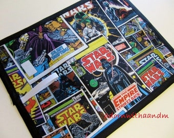 Chalkboard mat, chalk board mat, roll up chalkboard, Chalkimamy TRAVEL chalkboard mat made with Lucasfilm LTD Star Wars fabric
