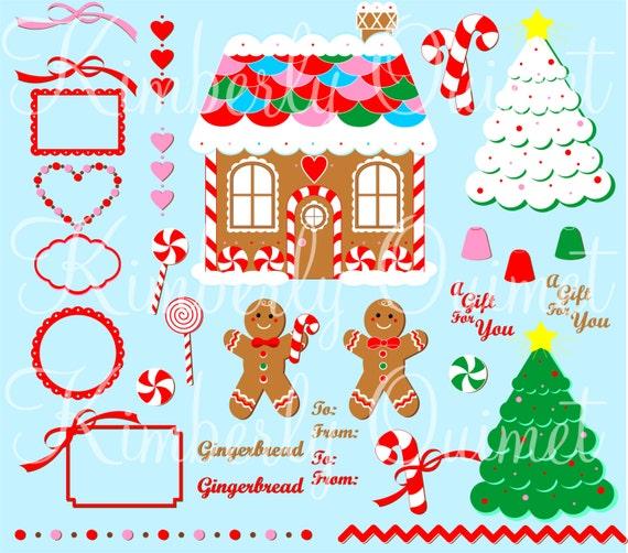 Digital Clipart Gingerbread Digital Clipart