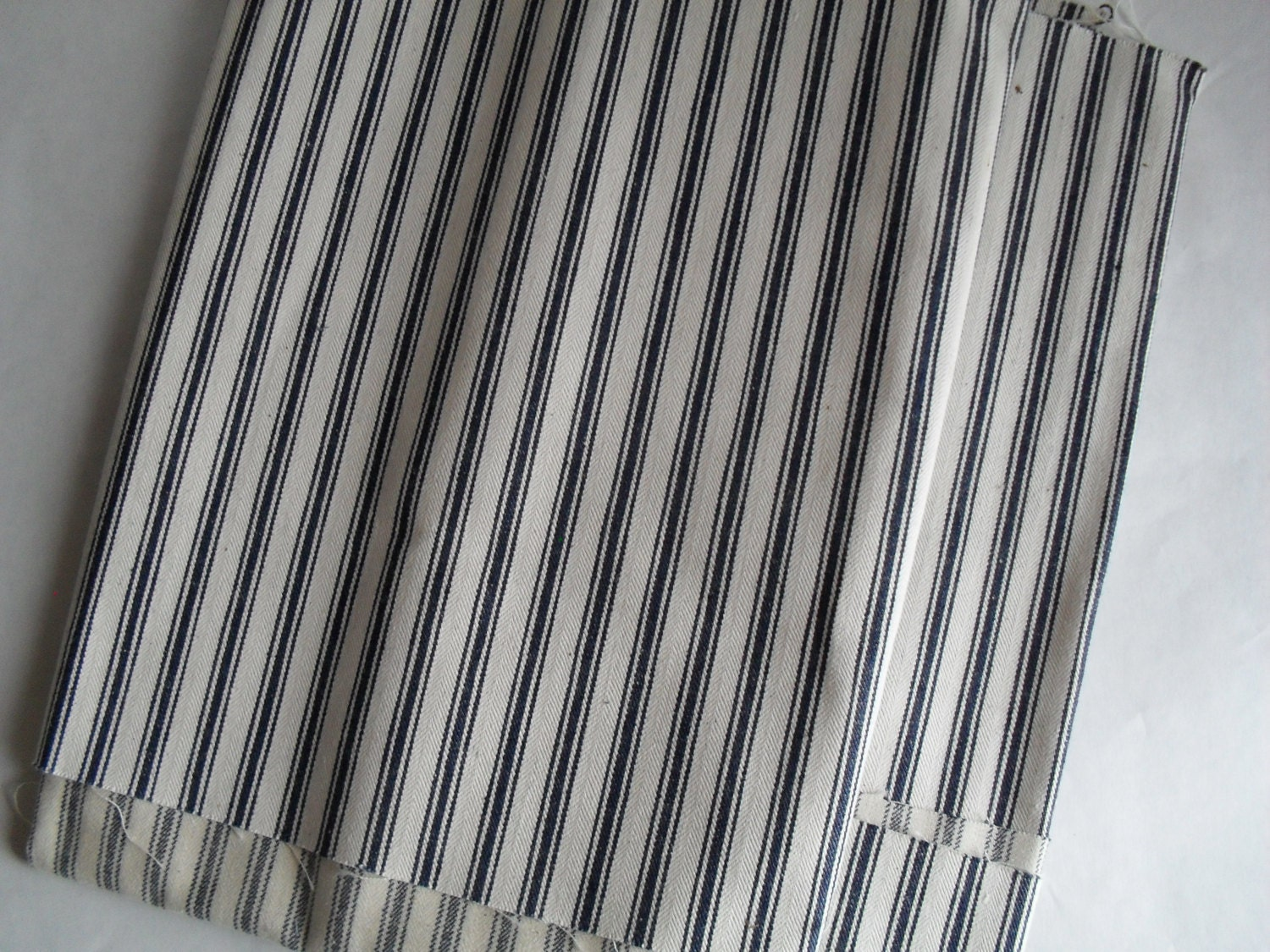 Cotton Blue Pillow Ticking Fabric For Sewing Crafts