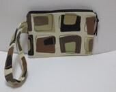 Clutch - Wristlet - Purse - Bag - Brown tones Clutch wristlet