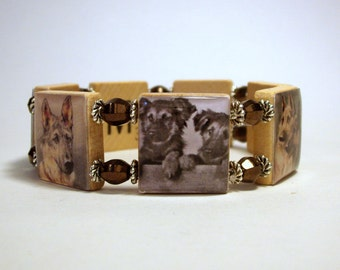 GERMAN SHEPHERD Bracelet / Dog Lover / SCRABBLE / Handmade Jewelry / Unusual Gifts