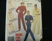 Vintage Uncut McCalls Pattern 2702 Size 12 Misses Jumpsuit