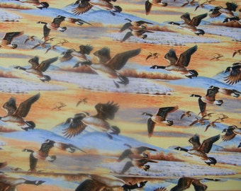 Duck, Duck, Goose Cotton Fabric Flying Geese