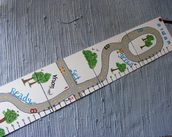 Foldable Children's Growth Chart, Cars Theme