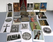 Lot of Medieval Byzantine Antiquity 18th Century Assorted Periods Art Postcards Religious Art Tapestry Fresco Sculpture Decorative Arts