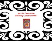 Tree of Life Greeting cards Set of 6 cards and envelopes  custom order for MMT1