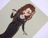 Cute Kawaii Bellatrix Lestrange Harry Potter Postcard