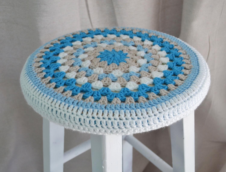 Crochet Stool Cover Granny Round 12 Coastal Vibe by TannaGail : ilfullxfull567922907ot96 from www.etsy.com size 1500 x 1141 jpeg 270kB