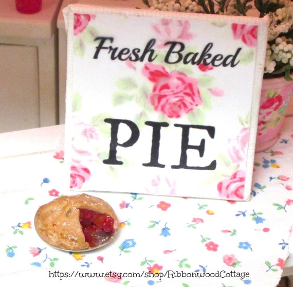 Cherry Pie and Pie Sign-Miniature