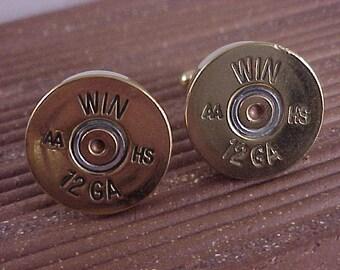 Shotgun Cufflinks / Winchester 12 Gauge Shotgun Cuff Links / Bullet Cufflinks / Wedding Cufflinks / Groomsmen Gift / Gifts For Men