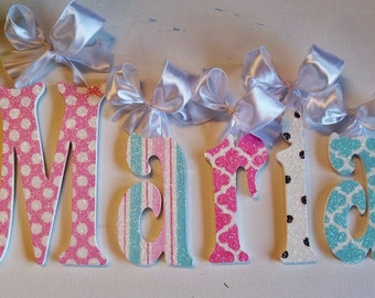 Wall Letters -  Nursery Decor - GLITTER and SPARKLE