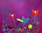 "SMALL Signed Ltd Edition Print ""Purple Haze"" 5x5"""
