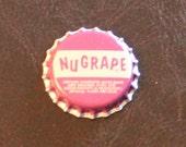 One vintage unused NuGrape bottle cap