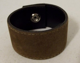 Brown  Cuff bracelet - upcycled repurposed reclaimed fashion jewelry