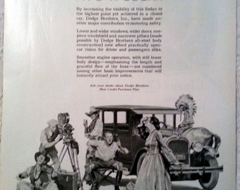 1926 Dodge Sedan Ad William Meade Prince Artwork On the Movie Set Melodrama