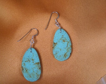 EARRINGS of TURQUOISE and SILVER