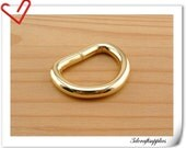25mm, 1 inch  D Ring, Dee Ring, Non Welded d rings ,  Gold D ring , 12 PCS U140