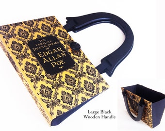 Complete Tales of Edgar Allan Poe Recycled Book Purse - The Pit and The Pendulum Book Purse