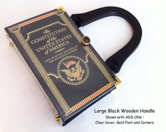 The Constitution of the United States Book Purse - Political Intern Gift - Democrate Gift - American History Lover Gift - Republican Gift