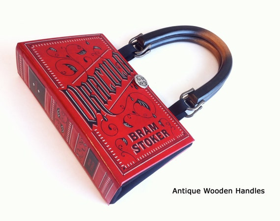 Dracula Book Purse - Dracula Book Clutch - Bram Stoker Book Bag - Vampire Collector Gift