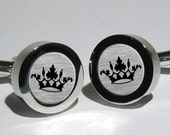 Mens Crown Cufflinks/Gift for Men/Handmade/Father/Groom/Vintage Inspired King's Crown cufflinks for men