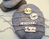 Message to You Cursive Cutout Inspirational Bracelet -Assorted
