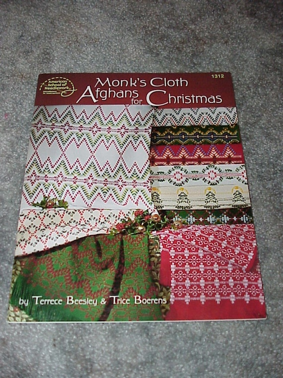 Monk S Cloth Afghans For Christmaspattern Book25