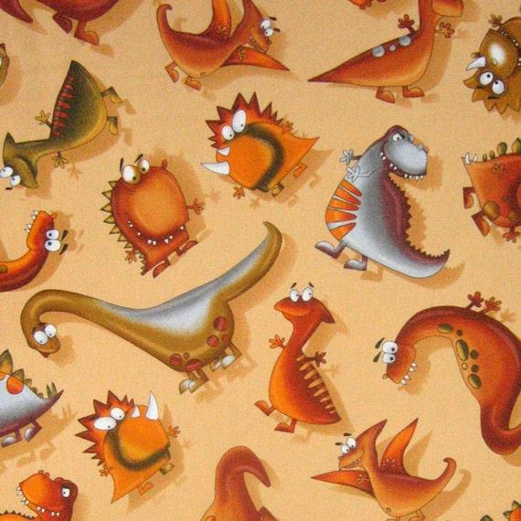 Dinosaur fabric kids dinos fabric by timeless by for Kids dinosaur fabric