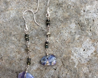 Lavender Chacedony Sparklepuss Earrings