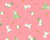 Who's A Bunny  All over in Pink by Quilting Treasures