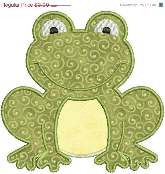 Sale off applique frog toad machine by