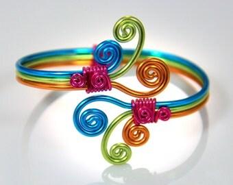 Spiral Burst Adjustable Bracelet