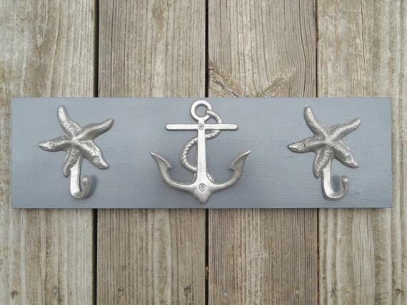 Anchor towel rack beach towel coastal living nautical home decor anchor wall art bathroom renovation outdoor shower Beach House Dreams OBX