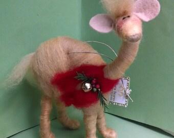 Camel Felted Wool Sculpture