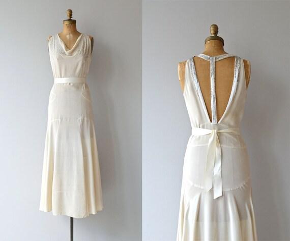 1930s Wedding Gowns: Stork Club Dress Vintage 1930s Wedding Dress Silk 30s
