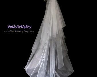 Long Bridal Veil, Radiance Veil, 2-Tier Veil, Sweep Veil, Cut Edge Veil, Custom Veil, Bespoke Veil
