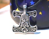 Thor's Hammer Mjolnir Viking Pendant 'The Power of Thor' Norse Jewelry - Cast Pewter