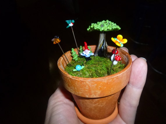 Miniature fairy garden kit, customizable