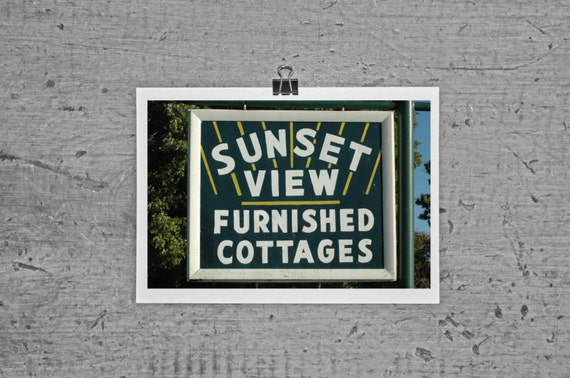 Sunset View Furnished Cottages - Kelleys Island, Ohio - 4 x 6 photograph