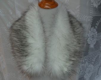 Faux Fur COLLAR,  Women's Fur Neckwarmer, Fur Collar, Husky Faux Fur Collar