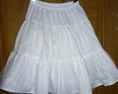 Custom girl's half slip. 3 tiers. 3rd tier has tulle. Great for twirly skirts and full dresses.