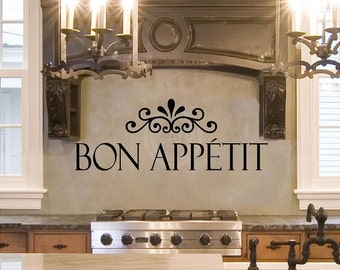 Bon Appetit Vinyl Lettering vinyl lettering quote wall saying decal sticker art