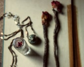 The Collector's Amulet. Vintage Glass Shaker Curio Necklace.
