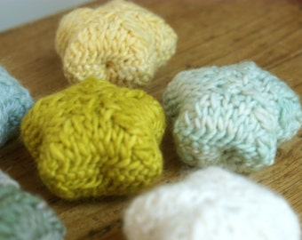 Knit Felted Knit Star Ornaments