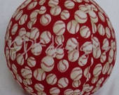 Fabric Ball - Balloon cover, Red Classic Baseball Fabric